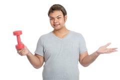 De Aziatische sterke rode domoor van de mensengreep met vertrouwen Stock Afbeeldingen