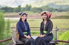 de Aziatische stijl van glimlachmeisjes royalty-vrije stock foto