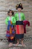 De Aziatische Thaise Dam van de vrouw, Laos stock afbeelding