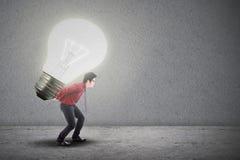 Aziatische zakenman heldere innovatie Royalty-vrije Stock Afbeelding