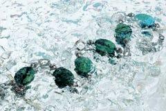 De azuurblauwe halsband van het water Royalty-vrije Stock Fotografie