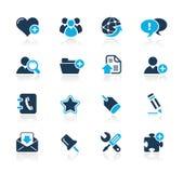 De Azuurblauwe Reeks van Internet & van Blog // Stock Afbeeldingen
