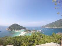 De bästa visuella hjälpmedlen på Nang Yuan Island, Royaltyfri Fotografi