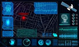 De búsqueda y seguimiento Person From Space stock de ilustración
