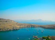 De Baai in de Middellandse Zee Royalty-vrije Stock Foto