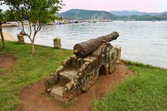 De Baai en de Canon van Paraty Stock Afbeelding
