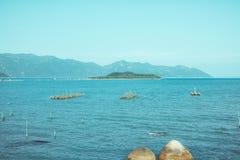 De baai en de haven in Vietnam Stock Afbeelding