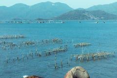 De baai en de haven in Vietnam Royalty-vrije Stock Foto