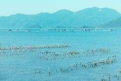 De baai en de haven in Vietnam Stock Foto