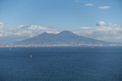 De Baai en de Vesuvius van Napels stock afbeeldingen