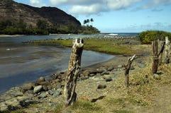 De Baai Hawaï van Halawa stock afbeeldingen