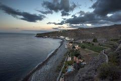 De baai met het dorp Royalty-vrije Stock Foto's