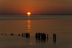 De Baai New Jersey van zonsopgangraritan Royalty-vrije Stock Foto's