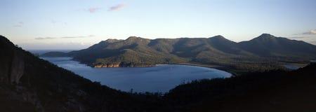 De baai Tasmanige van het wijnglas Stock Foto's
