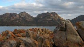 De baai Tasmanige van het wijnglas Stock Foto