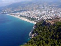 De baai van Alania in Middellandse Zee Royalty-vrije Stock Afbeeldingen