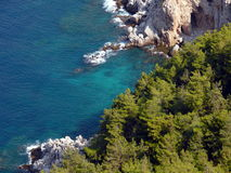 De baai van Alania in Middellandse Zee Stock Foto