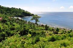 De baai van Amed in Bali royalty-vrije stock foto's