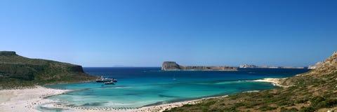 De baai van Balos, Gramvousa (Kreta, Griekenland) Stock Foto's