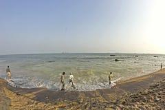 De baai van Bengalen in Vishakhapatnam stock foto