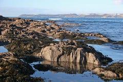 De baai van Bigbury stock afbeeldingen