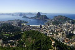 De Baai van Botafogo royalty-vrije stock foto's