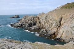 De Baai van Breniere op Sark Stock Foto