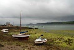 De baai van Brest, Bretagne, Frankrijk Stock Foto
