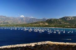 De baai van Calvi in Corsica Royalty-vrije Stock Afbeelding