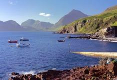 De baai van Camasunary, Elgol, eiland van Skye Royalty-vrije Stock Foto