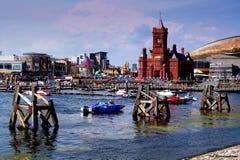 De Baai van Cardiff Stock Afbeeldingen