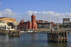 De Baai van Cardiff stock foto