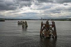 De Baai van Cardiff stock foto's