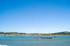 De baai van Conway, Noord-Wales Royalty-vrije Stock Foto's
