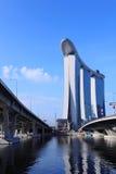 De Baai van de jachthaven schuurt Geïntegreerder Toevlucht, Singapore Stock Afbeeldingen