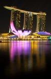 De Baai van de jachthaven schuurt Hotel en Casino Royalty-vrije Stock Afbeeldingen