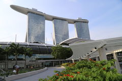 De Baai van de jachthaven schuurt Hotel in Singapore Royalty-vrije Stock Foto