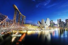 De Baai van de jachthaven schuurt Singapore Royalty-vrije Stock Foto's