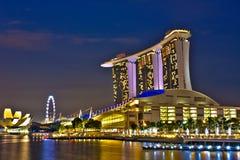 De Baai van de jachthaven schuurt Singapore Royalty-vrije Stock Foto