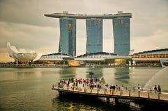 De Baai van de jachthaven schuurt Singapore Stock Foto's