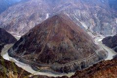 De Baai van de Maan van de Rivier van Jinsha Royalty-vrije Stock Afbeelding
