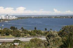 De baai van de zwaan in Perth westelijk Australië Royalty-vrije Stock Afbeeldingen