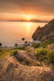 De baai van de Zwarte Zee Stock Foto's
