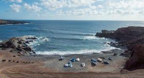 De baai van Gr Golfo, Lanzarote Stock Foto