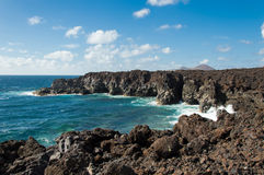 De baai van Gr Golfo, Lanzarote Stock Afbeelding