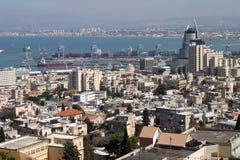 De baai van Haifa Stock Afbeeldingen
