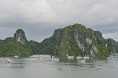De baai van Halong, Vietnam Royalty-vrije Stock Foto's