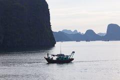 De baai van Halong in Vietnam royalty-vrije stock afbeelding