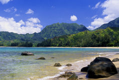 De Baai van Hanalei, Kauai stock afbeelding