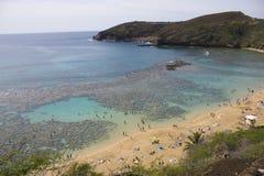 De Baai van Hanauma, Hawaï Stock Afbeelding